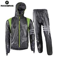 ROCKBROS Cycling Waterproof Motocross Bike Bicycle Raincoat Breathable Anti-sweat Set Riding Bike Bicycle Equipment Clothing цена