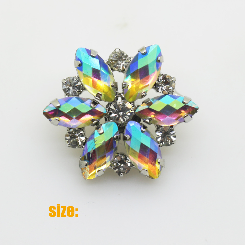 25mm 10pcs Fashion New Ab Color Acrylic Rhinestone Button/drill Button,clear Rhinestone Sewing Button Home & Garden At All Costs Arts,crafts & Sewing