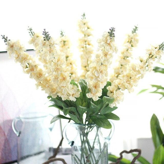 10PCS Delphinium Silk Flower Artificial Europe Wedding Hyacinth ...