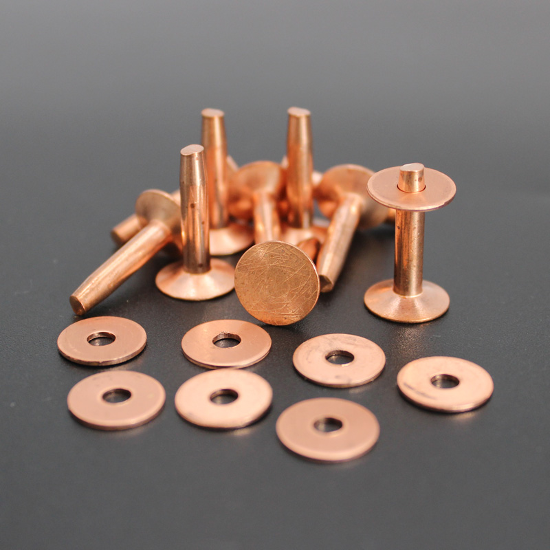 9 X 12mm Solid Copper Rivets & Burrs/wahsers For Leather