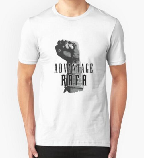 Rafael Nadal Advantage Rafa Spain Grand Slam Print Original Design Fashion Casual Cotton T shirt T shirt Top TEE Free Shipping