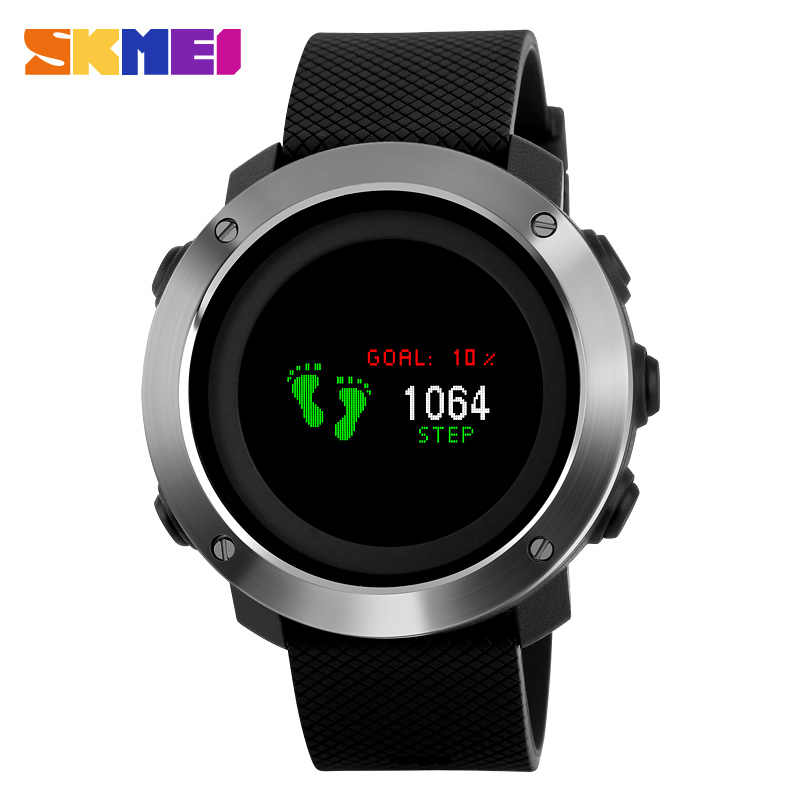 SKMEI Men Smartwatch Pedometer Calorie Outdoor Sport Male Smart Watch Bracelet Wristwacth For Android IOS Reloj inteligente