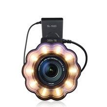 Seafrogs макро светодиодный кольцевой светильник Вспышка Speedlite с переходное кольцо для Nikon D5100 D3100 серии Canon 5D Mark II 7D 10D Olympus
