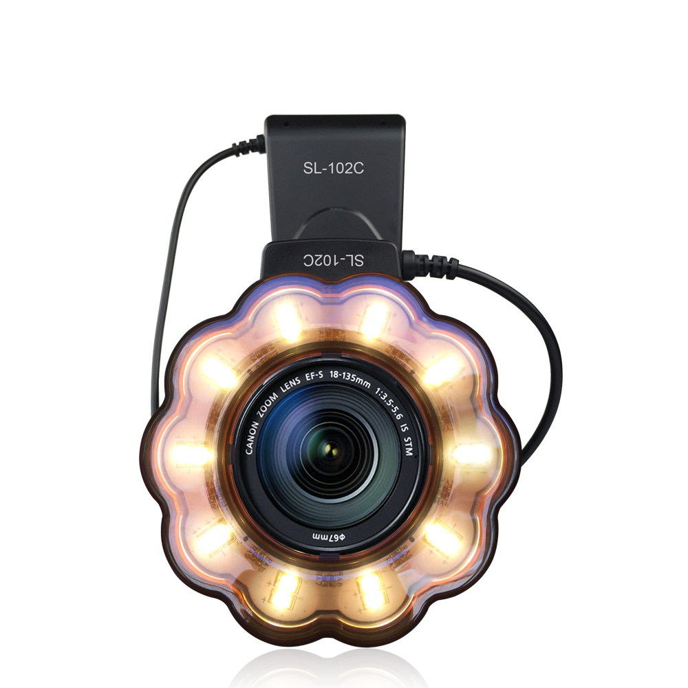 Seafrogs Macro Led Ring Light Flash Speedlite with Adapter ring for Nikon D5100 D3100 Series Canon 5D Mark II 7D 10D Olympus
