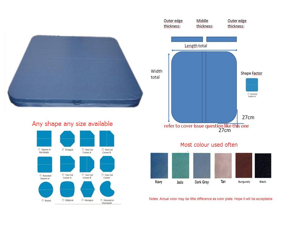 196cm x 196cm hot tub Spa cover leather skin , can do any other size round spa cover cap diameter 200cm x 30cm high other size can be available