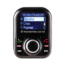 Modelo Bluetooth Auto Car Kit Handsfree manos libres bluetooth telefono MP3 Player Two Charger Port ESpanol Language