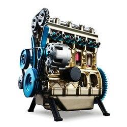 Neue Ankunft Teching 1:24 Vier-Zylinder Motor Volle Aluminium Legierung Modell Sammlung Pädagogisches Spielzeug Kinder Erwachsene Spielzeug