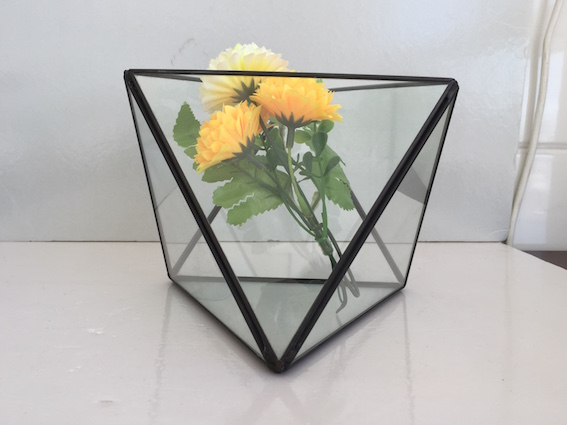 Geometric Terrarium Dodecahedron Handmade Glass Planter Pot