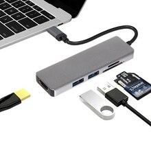 Tipo C Para HDMI Leitor de Cartão//carregador Adaptador Ethernet Gigabit Multi função Multiport Tipo C Extensor dock Station ANÚNCIO. SL. TC104H