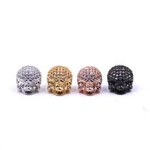 KANGKANG Hot Selling pave CZ 4 color skull  Jewelry Accessories de bijoux Smykker 2018 Bracelet accessories