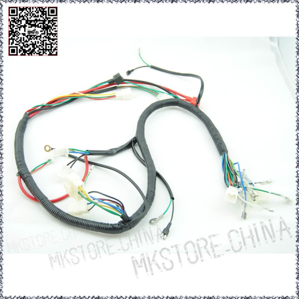 quad wiring harness 200 250cc chinese electric start loncin zongshen ducar lifan free shipping [ 1000 x 1000 Pixel ]