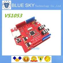 Free shipping! 5pcs/lot VS1053 MP3 recording module development board (on-board recording function) for arduino uno r3