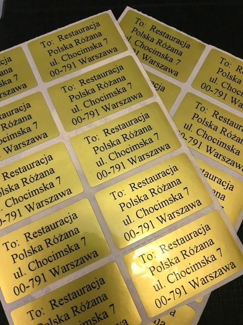 FREE SHIPPING 3500 pcs Return Address Label Personalized in Polish