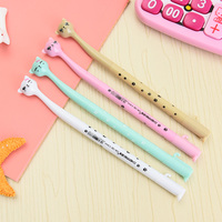 60 pçs/lote atacado bonito caneta gel gato dos desenhos animados caneta gel gato kawai bonito papelaria kawaii canetas canetas material escolar caneta gel gato