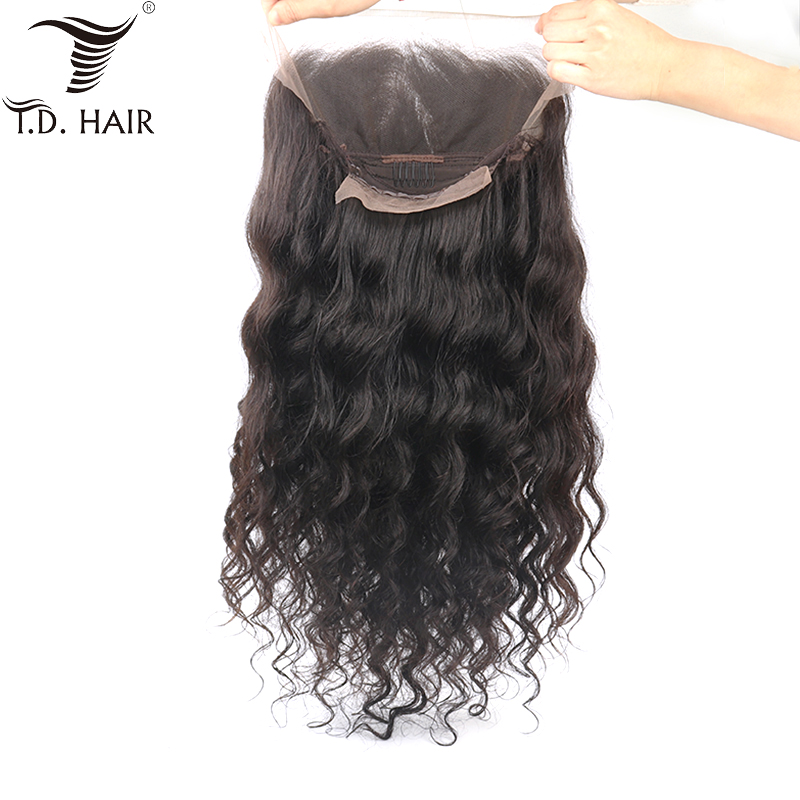 TD Swiss Transparent Lace Frontal Wigs Loose Wave Human Hair Wig Remy Brazilian Hair Lace Front Wig Preplucked Bleached Knots