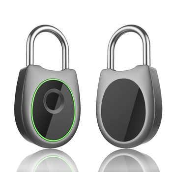Inteligente candado de huella digital portátil eléctrico sin llave USB recargable impermeable caja de equipaje de desbloqueo rápido cerradura de seguridad de la puerta - DISCOUNT ITEM  32 OFF All Category