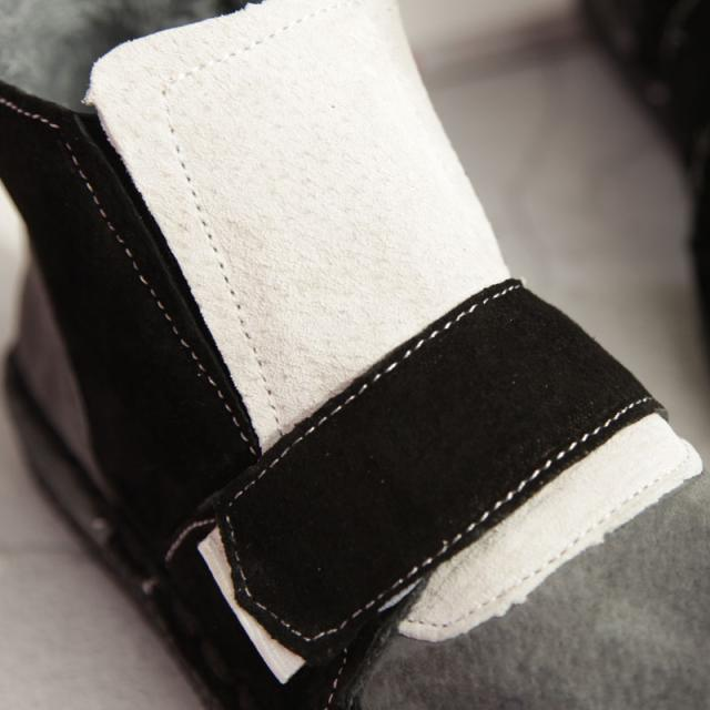 HUIFENGAZURRCS-New Pure handmade Short boots,autumn plus velvet warm boots, Japan Department of female big head doll color boots