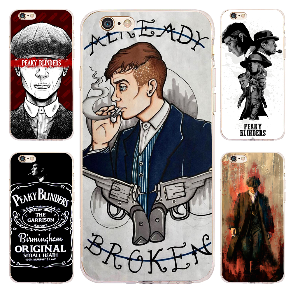 Coque Peaky Blinders Fundas Clear Soft TPU Silicone Phone Cover for iPhone X 7 8 6 6S Plus 5S 5 SE 5C 4S 4 iPod Touch 6 5 Cases.