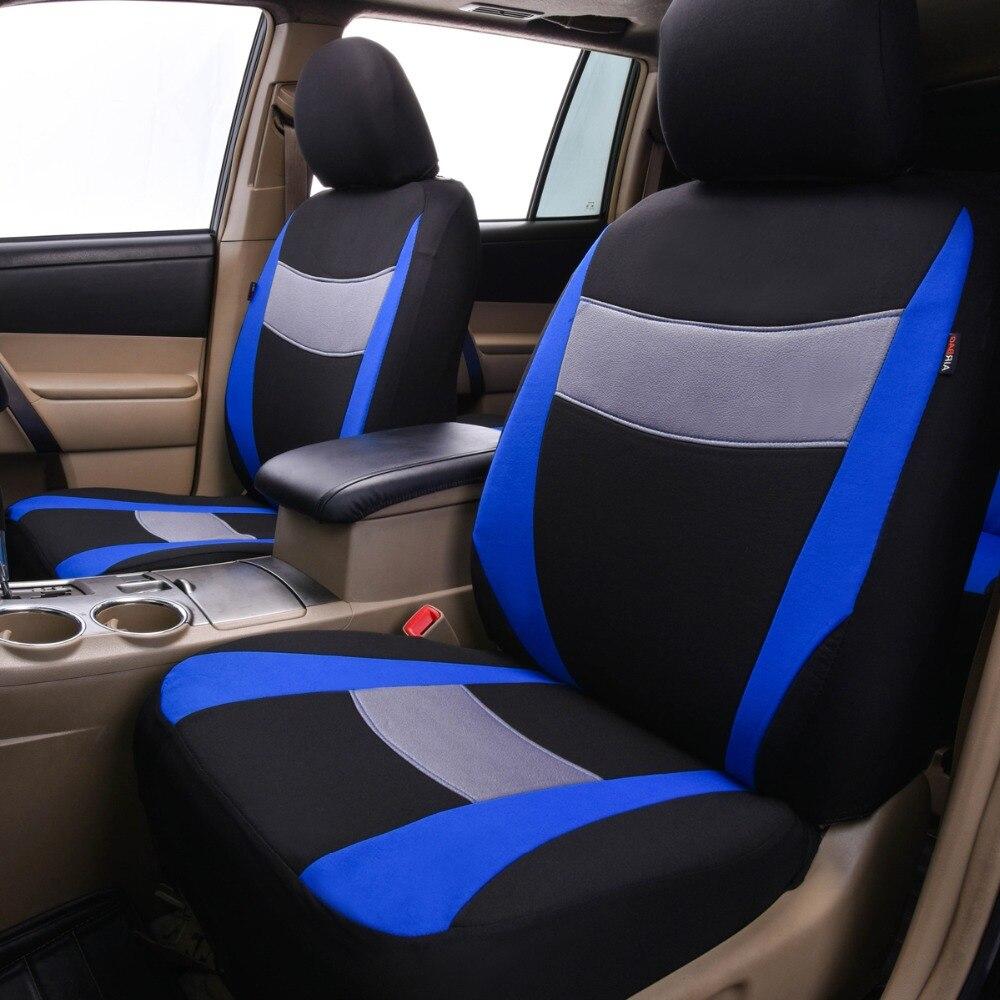 Car-pass Fundas de asiento de automóvil Gris Azul Rojo Colores Tela - Accesorios de interior de coche - foto 2