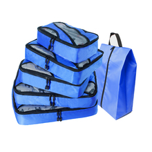 Ladies Travel Bag Nylon Traveling Simple Packing Cubes Dark Blue Luggage