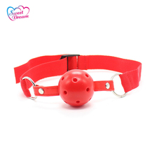 Adult Plastic Mouth Hollow Ball Gag BDSM Bandage Restraints Toys Flirting Sex Toys For Woman Sex Products DW-180