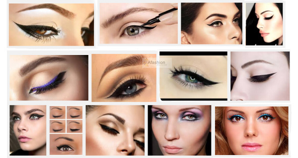 1pc Super style eyeliner stencil kit 6 model for eyebrows template the eye makeup a guide diy card 4