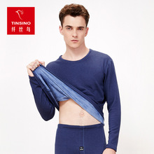 2017 Hot Winter Mens Warm Thermal Underwear Mens Long Johns Four Color Thermal Underwear Sets Thick Plus Wool Long Johns Man