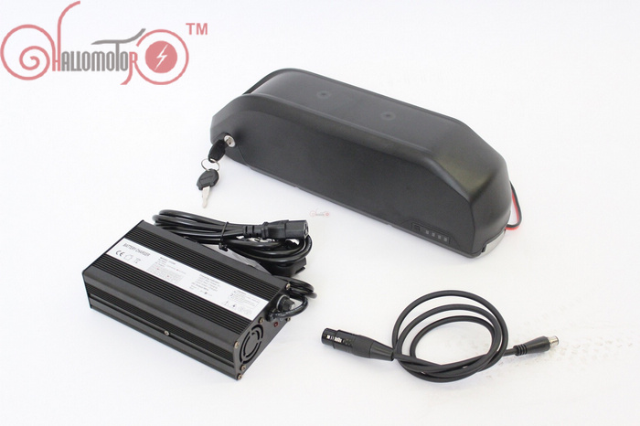 ConhisMotor Ebike 36V 12.8AH/16AH/19.2AH Down Tube Polly Frame Case Electric Bicycle Li-ion Battery with BMS and 2A/5A Charger ebike 24v 52 2ah lithium battery frame triangle li ion battery for pa ncr18650pf cell with free bms and 5a charger