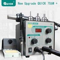 QUICK 706W Digital Display Hot Air Gun Soldering Iron Anti Static Temperature Lead Free Rework Station