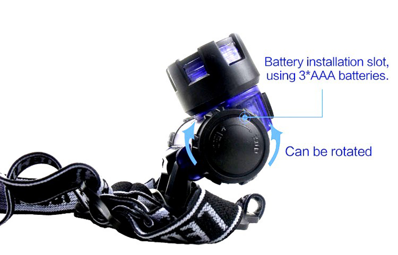 Ultra-light 3W Headlamp 3AAA Battery Powerful Head Lamp Light Waterproof Flashlight Torch Headlight for Hunting Fishing Camping (25)