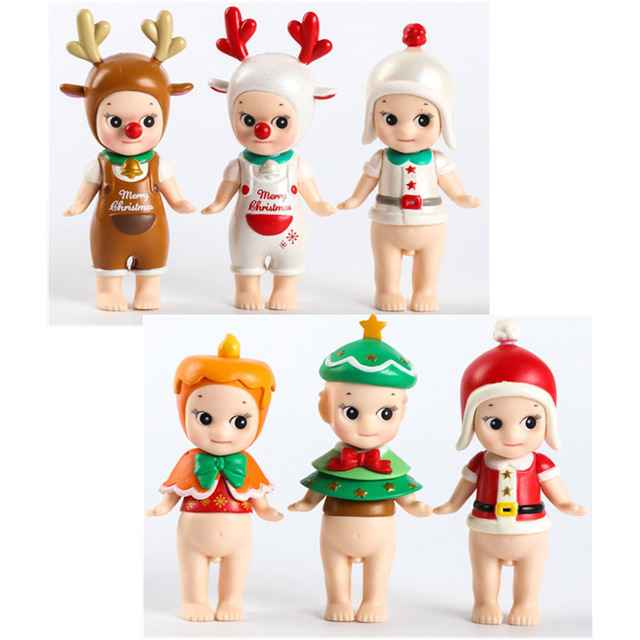 1Pcs 8cm New Arrive Sonny Angel Baby Christmas Model Kawaii Toy PVC Action Figure Toy Original Limited Edition Gift For Children цена