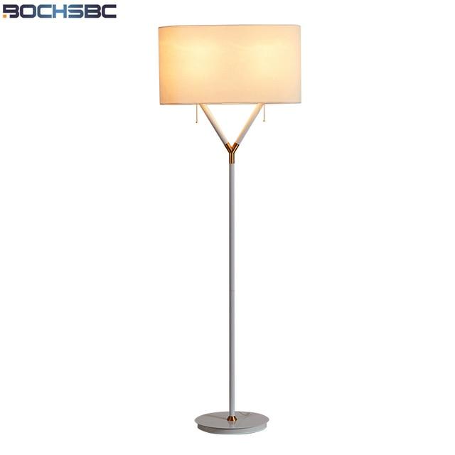 Bochsbc Fabric Lampshade Floor Lamps European Standing Lights For Bedroom Living Room Postmodern Creative Lampara