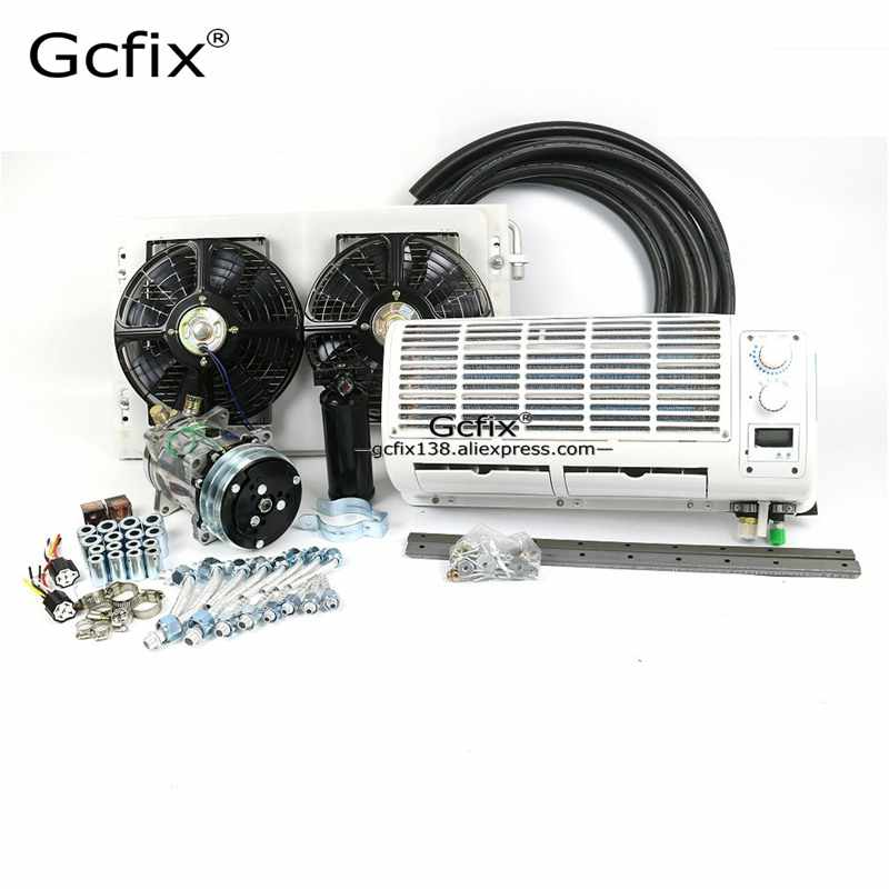 Universal Wall-mounted A/C Air Conditioner 12V 24V System Climate for Heavy Duty Truck Van Tractor Excavator Engineering Vehicle