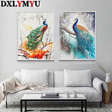 3D DIY Full Diamond Embroidery,5D painting Peacock,Diamonds mosaic cross stitch,Animal,Needlework,Christmas