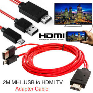 MHL Micro USB to HDMI 1080P TV Cable Adapter for LG Android Samsung Phones 11PIN