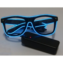 Fashion LED EL Wire Glasses Glow In The Dark Sunglasses Helloween Concert Party led flashing Glasses Eyewear
