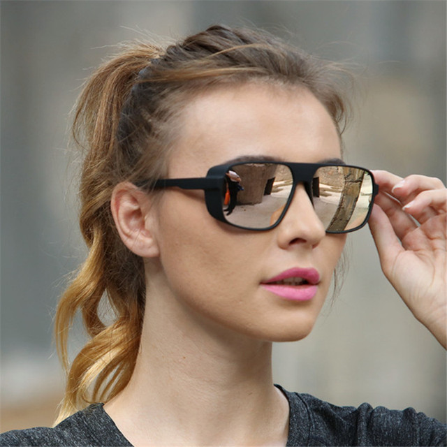 Long Keeper Light-weight Polarized Men Punk Retro Sun Glasses Steampunk Driving  Mirror Reflective Sunglasses Women Goggles