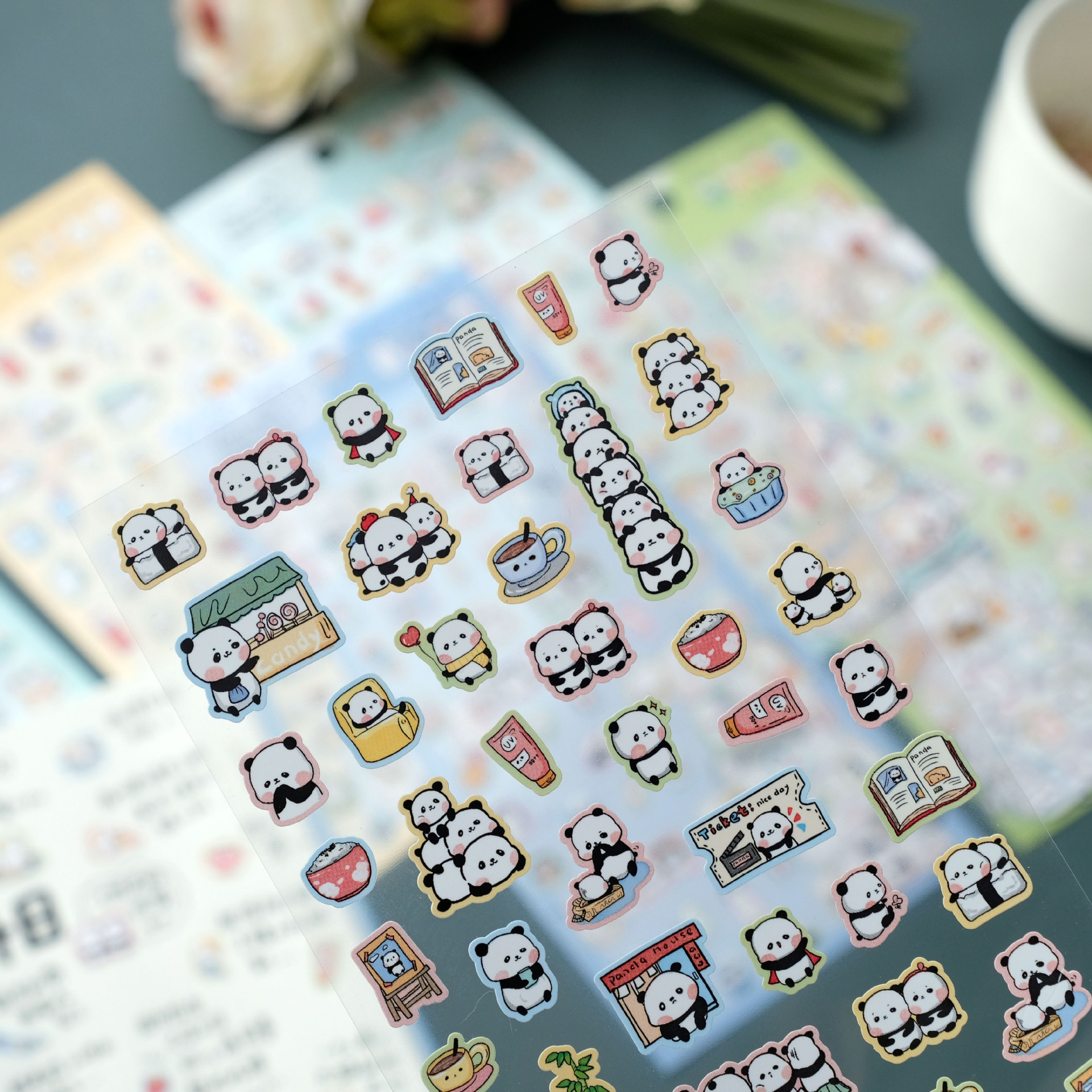Cute Lutra Otter Shiba Inu Cat Bullet Journal Decorative Stickers Scrapbooking Stick Label Diary Stationery Album Stickers