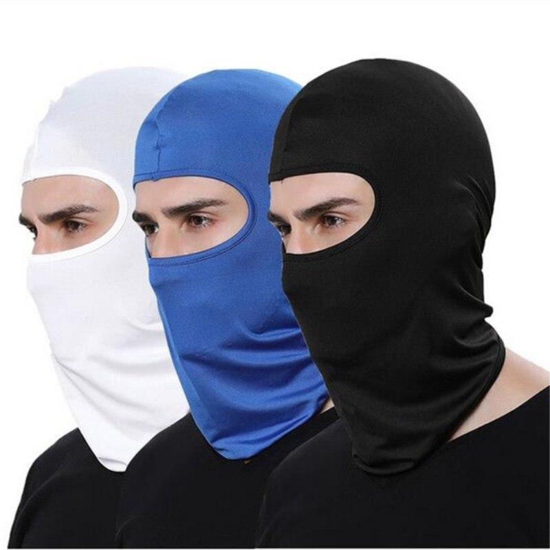 1pc Breathable Motorcycle Outdoor Sport Helmet Balaclava Lycra Full Face Mask