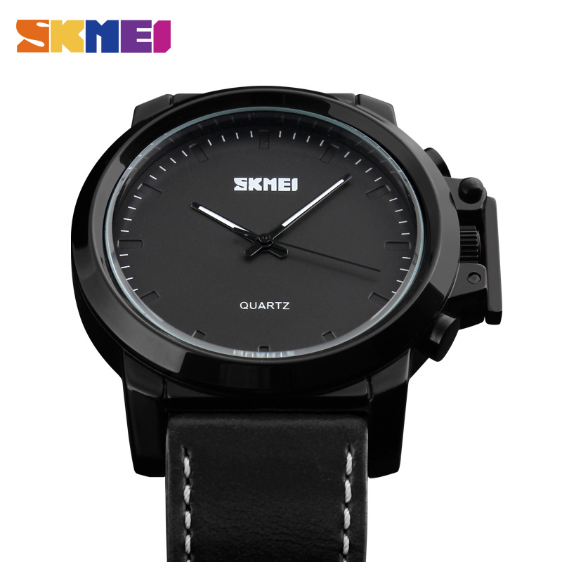 <font><b>SKMEI</b></font> Top Sale Sports Watches Men Fashion Casual Quartz Wristwatches Leather Strap Military Army 30M Waterproof Watch Watch image