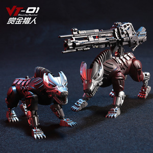 Image 3 - Transformation Lockdown VT 01 VT01 Steeljaw Alloy Metal KO Action Figure Robot VISUAL Toy With Two Dogs Deformation Toys Gifts