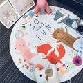 Папа и Мима счастливый танцы животных Игрушка-Сумка Для Хранения диаметр 1.5 м ребенка Ползать многофункциональный круглый одеяло Ковер/Мат/Carpet