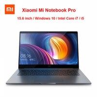 Оригинальный Xiaomi Mi Тетрадь Pro 15,6 дюймов ноутбук Intel Core i5/i7 Процессор NVIDIA GeForce 8 ГБ/16 ГБ 256 ГБ SSD отпечатков пальцев Windows 10