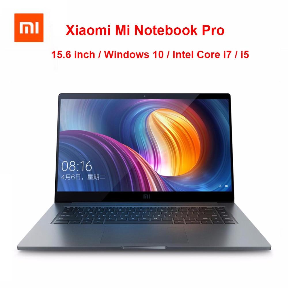 D'origine Xiaomi Mi Notebook Pro 15.6 pouce Ordinateur Portable Intel Core i5/i7 CPU NVIDIA GeForce 8 gb/16 gb 256 gb SSD D'empreintes Digitales Windows 10