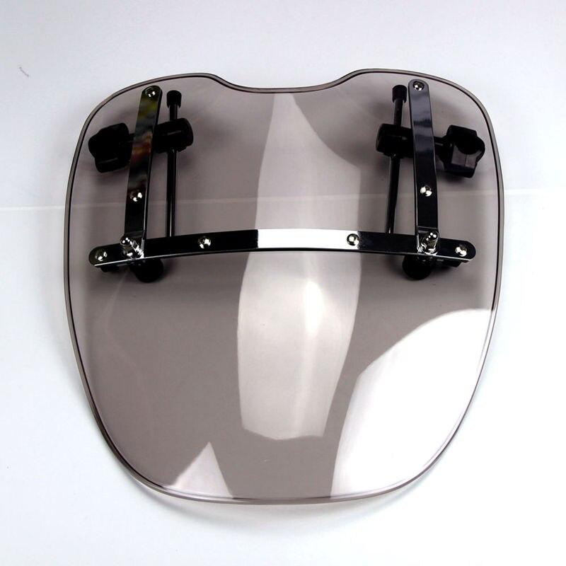 ФОТО Free Shipping Brand New Motorcycle Windshield Windscreen Universal for Harley Davidson Sportster Dyna Glide Softail