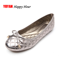 Elegant Bowtie Spring And Autumn Women Flats Fashion Boat Shoes Woman Casual Brand Single Shoes Plus