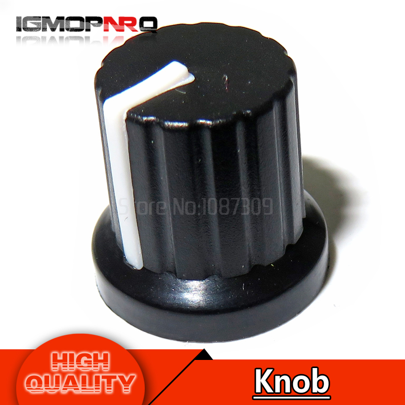 50 PCS New Potentiometer knob Black-Red For 6mm Shaft Pots Hot Sale High Quality