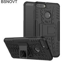 For Huawei Y9 2018 Case Soft TPU +Hard Plastic Kickstand Anti-knock Phone Case For Huawei Y9 2018 Cover For Huawei Y9 2018 Funda чехол tfn huawei y9 2018 tpu clear
