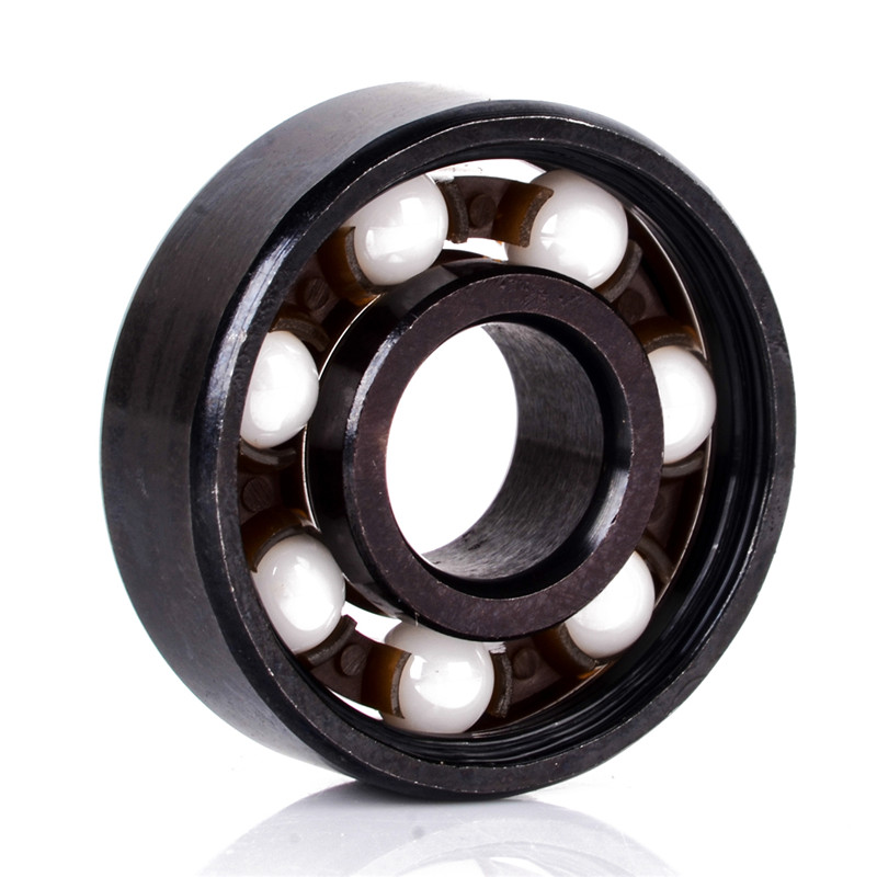 1pc New Ceramic Inline Speed Mayitr 608 Ball Bearing For Finger Spinner High Precision Skateboard Bearings Outer Diameter 22mm tri fidget hand spinner triangle metal finger focus toy adhd autism kids adult toys finger spinner toys gags
