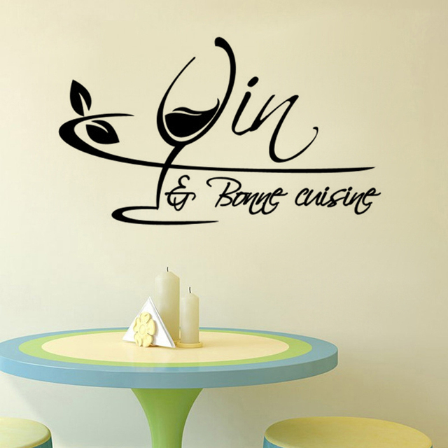 creative wine and food kitchen wall stickers home decor pvc